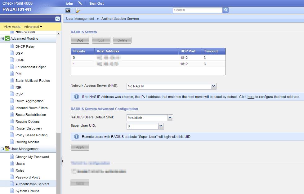 How to Setup Authentication for Admins – WebUI / SSH