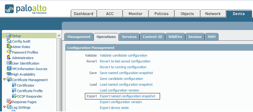 How to Export Palo Alto Networks Firewall Configuration to a