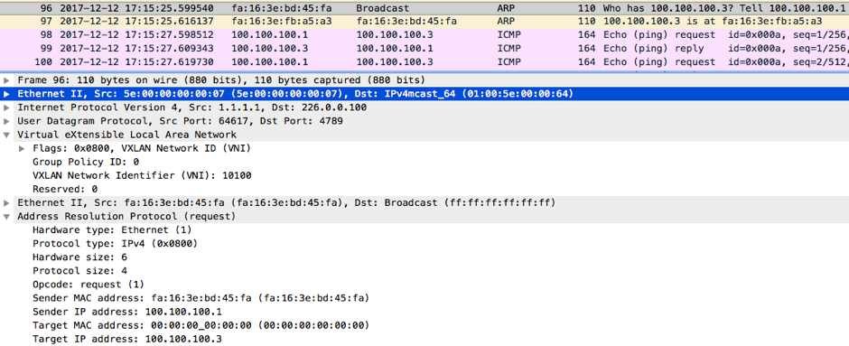 VXLAN with static ingress replication and multicast control plane