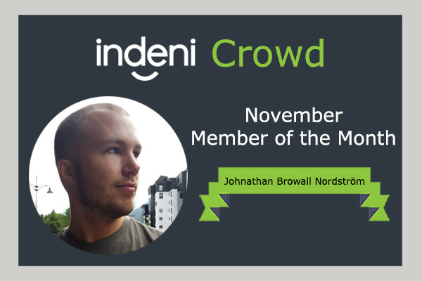 Indeni November Member of the Month: Johnathan Browall Nordström