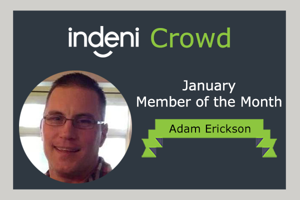 January Member of the Month Adam Erickson