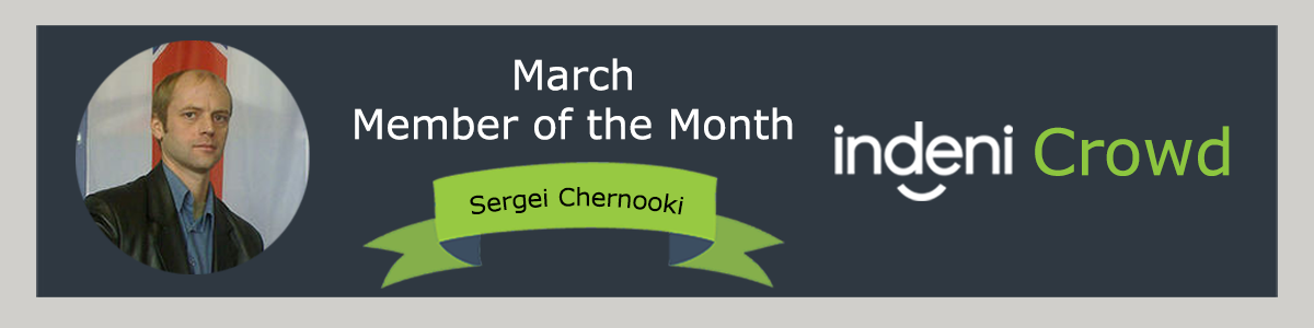 Sergei Chernooki: Member of the Month, Indeni Crowd