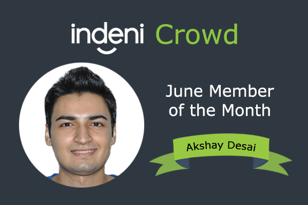 member of the month, june, indeni crowd
