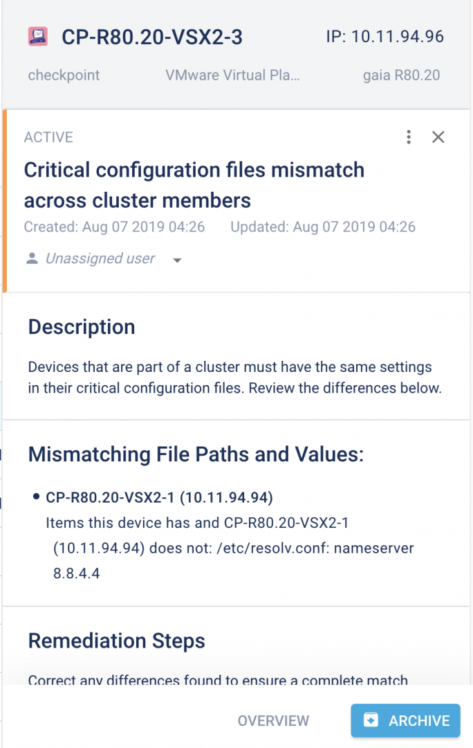 Critical configuration files mismatch across cluster members - use cases