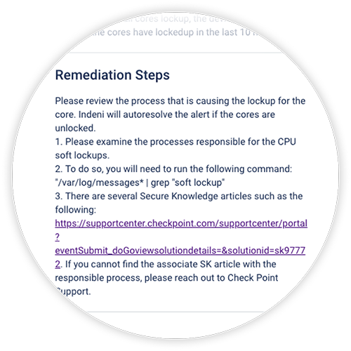 Remediation steps cpu soft lockups - checkpoint